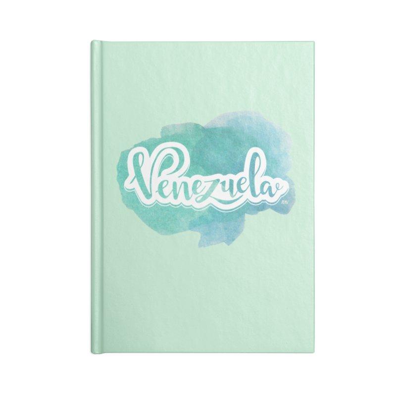 Typo Venezuela (acuarela azul) Accessories Notebook by Andrea Garrido V - Shop