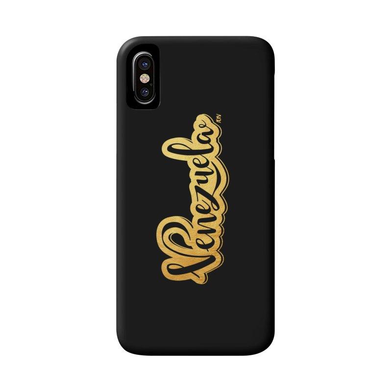 Typo Venezuela - ¡somos de oro! Accessories Phone Case by Andrea Garrido V - Shop