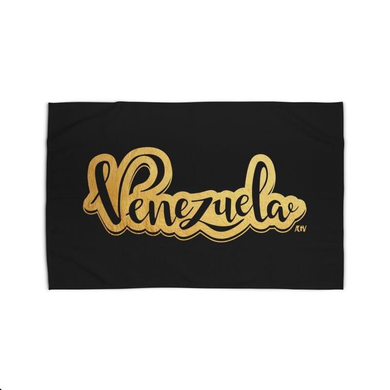 Typo Venezuela - ¡somos de oro! Home Rug by Andrea Garrido V - Shop
