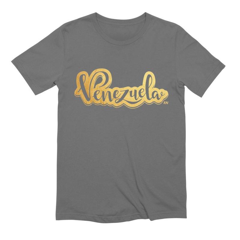 Typo Venezuela - ¡somos de oro! Men's Extra Soft T-Shirt by Andrea Garrido V - Shop