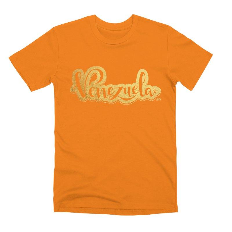 Typo Venezuela - ¡somos de oro! Men's Premium T-Shirt by Andrea Garrido V - Shop