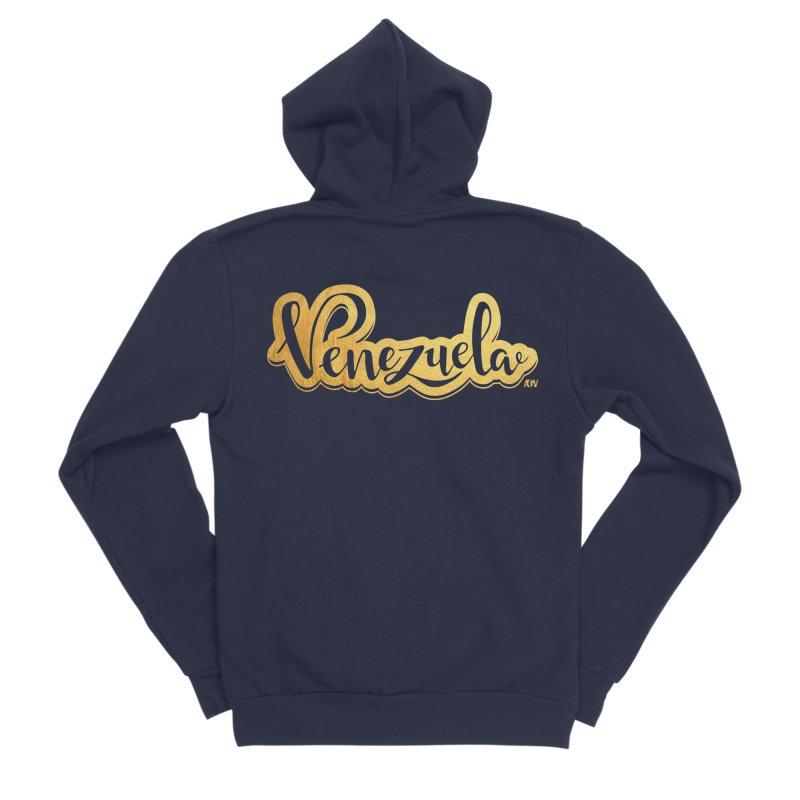 Typo Venezuela - ¡somos de oro! Women's Sponge Fleece Zip-Up Hoody by Andrea Garrido V - Shop