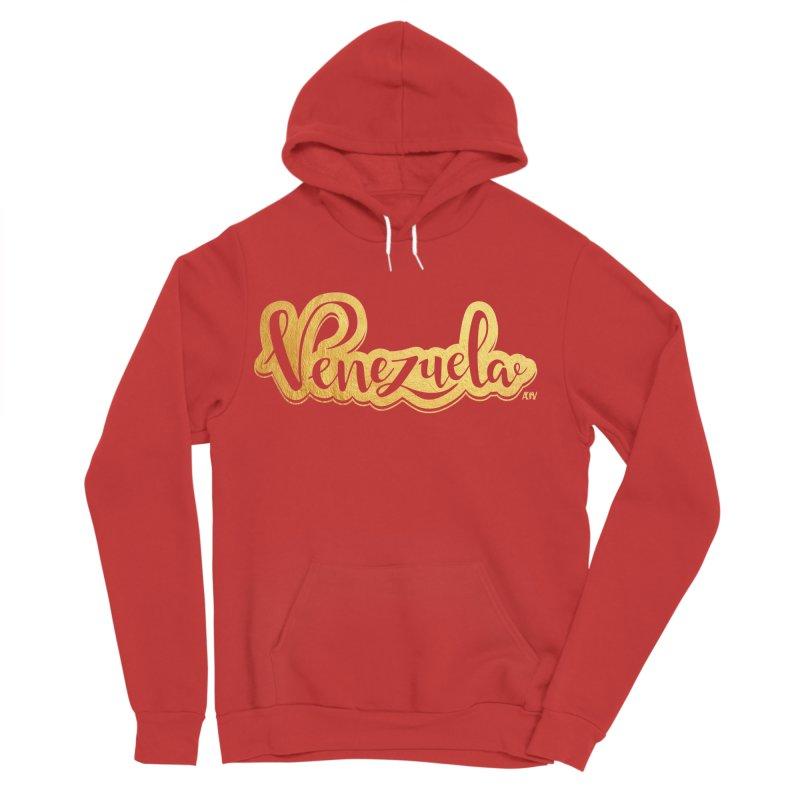Typo Venezuela - ¡somos de oro! Men's Pullover Hoody by Andrea Garrido V - Shop