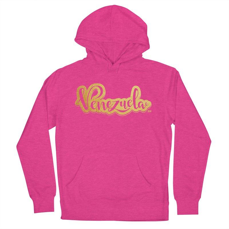 Typo Venezuela - ¡somos de oro! Women's French Terry Pullover Hoody by Andrea Garrido V - Shop