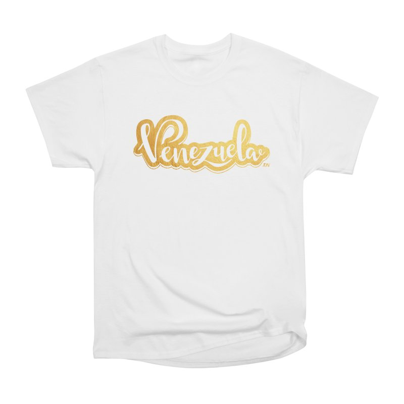 Typo Venezuela - ¡somos de oro! Men's Heavyweight T-Shirt by Andrea Garrido V - Shop