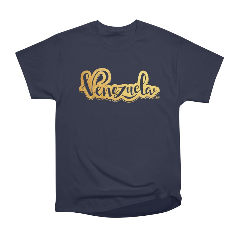 Typo Venezuela - ¡somos de oro! Men's Heavyweight T-Shirt by Andrea Garrido V - Shop