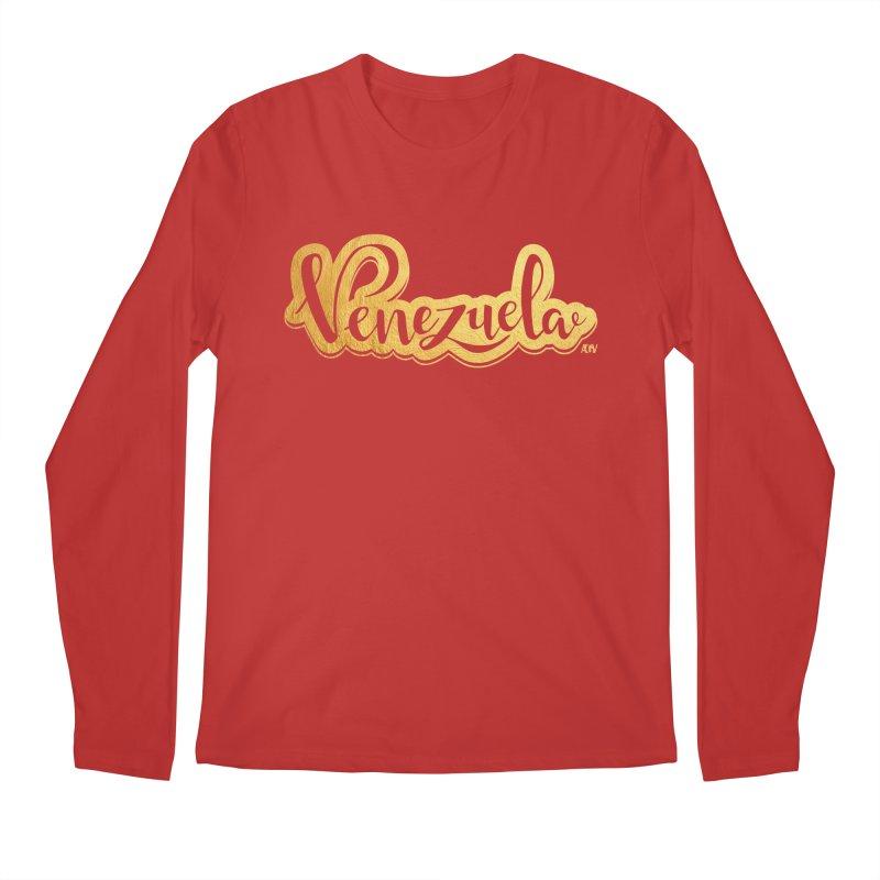Typo Venezuela - ¡somos de oro! Men's Regular Longsleeve T-Shirt by Andrea Garrido V - Shop