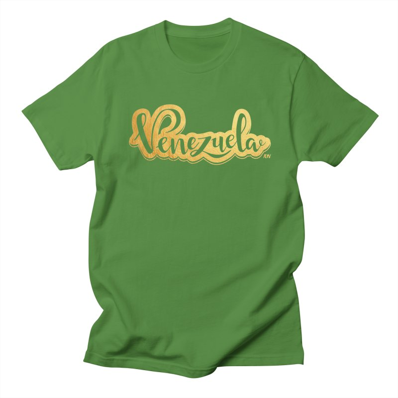 Typo Venezuela - ¡somos de oro! Men's Regular T-Shirt by Andrea Garrido V - Shop