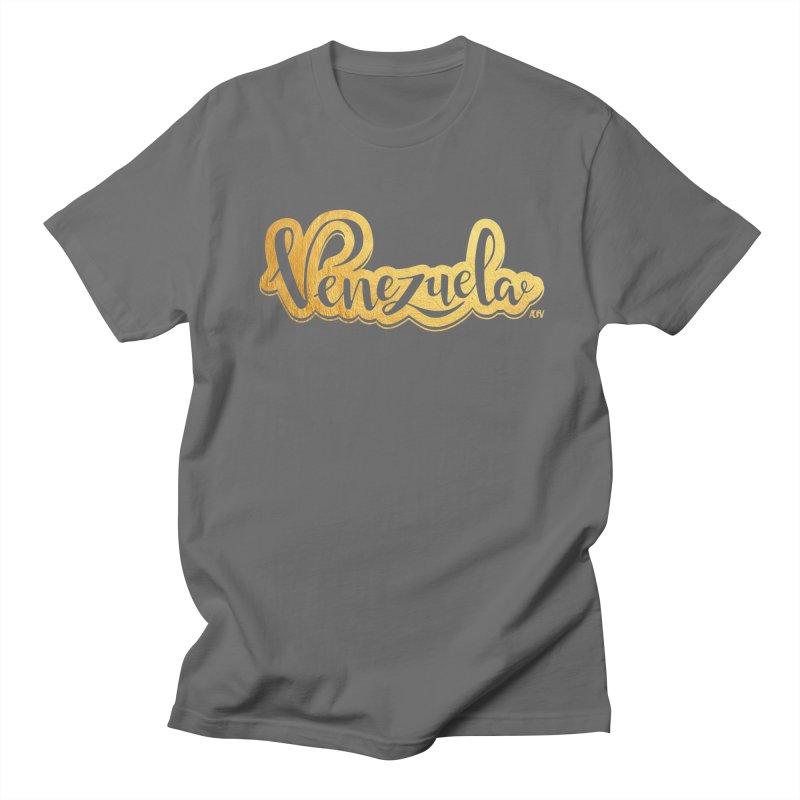 Typo Venezuela - ¡somos de oro! Men's T-Shirt by Andrea Garrido V - Shop