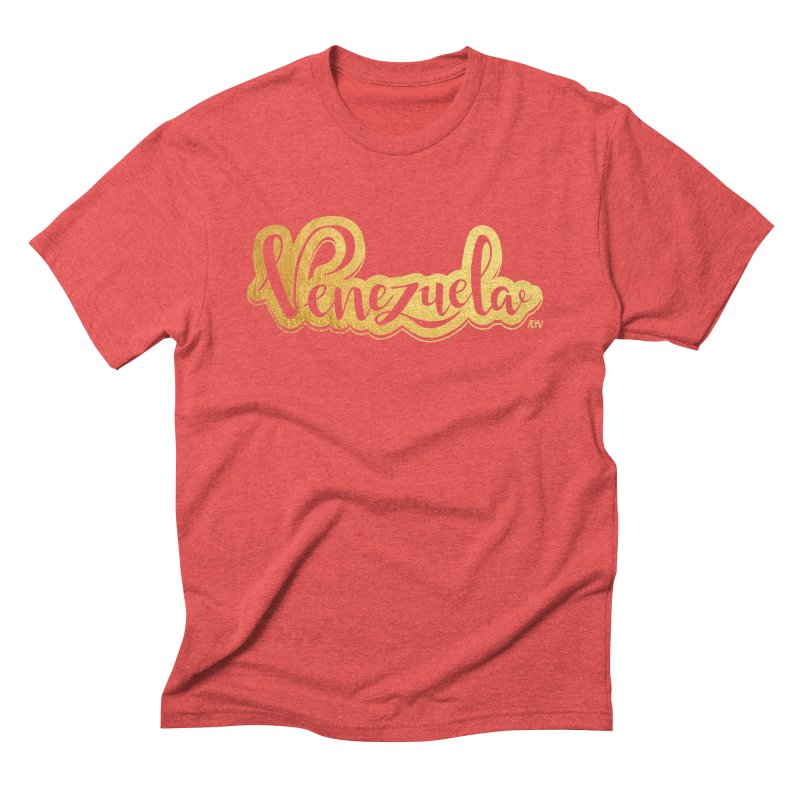 Typo Venezuela - ¡somos de oro! Men's Triblend T-Shirt by Andrea Garrido V - Shop