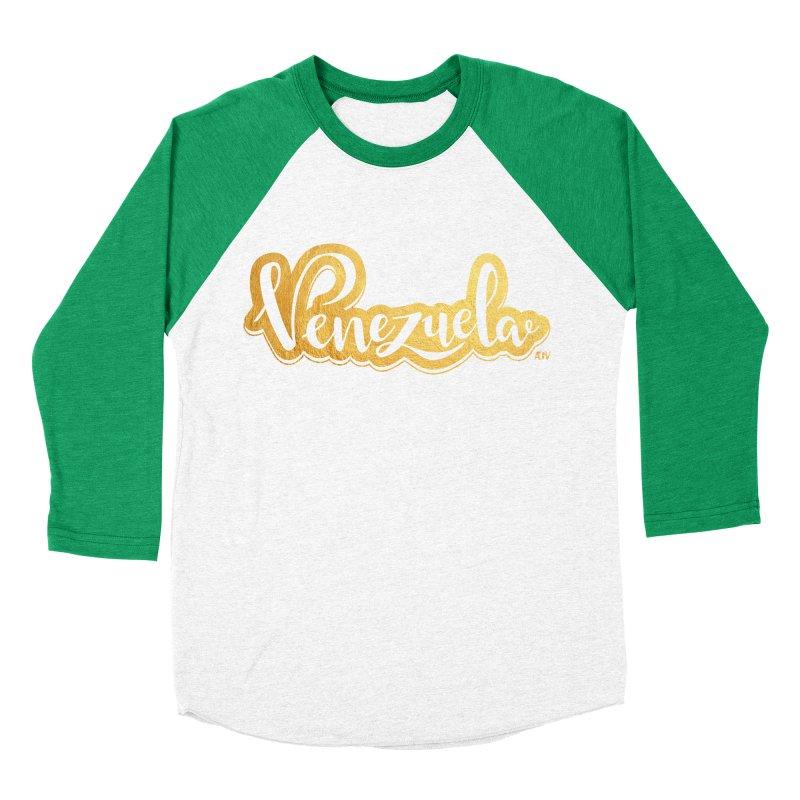 Typo Venezuela - ¡somos de oro! Men's Baseball Triblend Longsleeve T-Shirt by Andrea Garrido V - Shop
