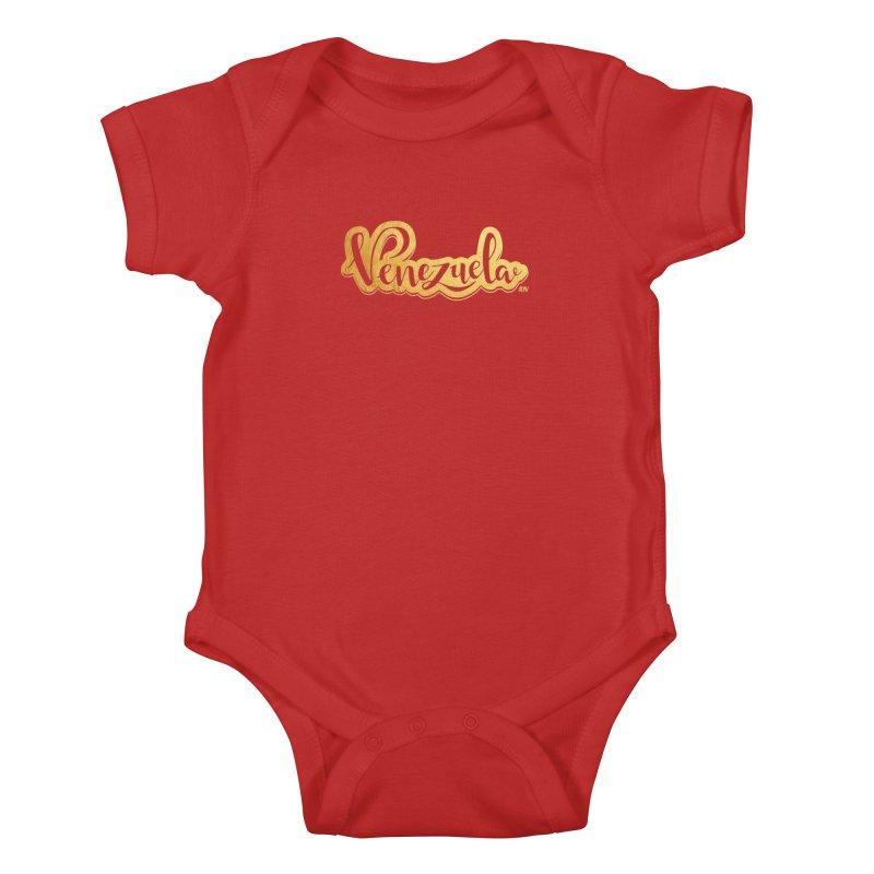 Typo Venezuela - ¡somos de oro! Kids Baby Bodysuit by Andrea Garrido V - Shop