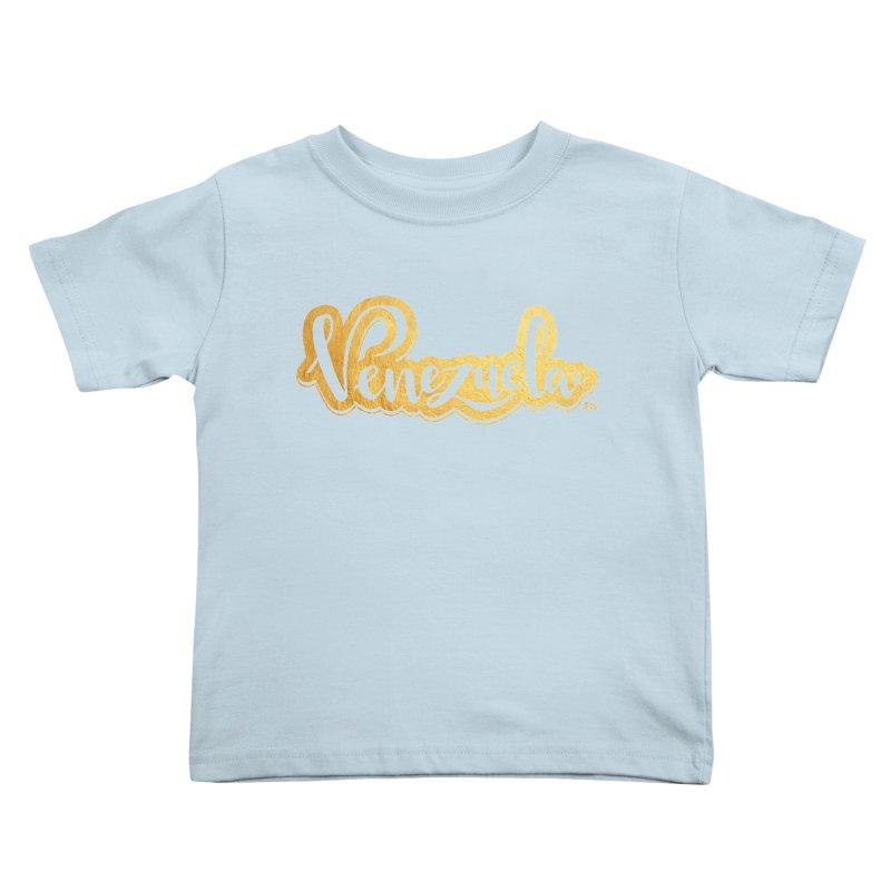 Typo Venezuela - ¡somos de oro! Kids Toddler T-Shirt by Andrea Garrido V - Shop