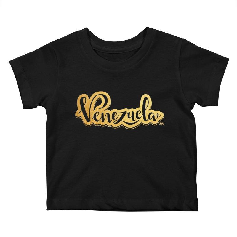 Typo Venezuela - ¡somos de oro! Kids Baby T-Shirt by Andrea Garrido V - Shop