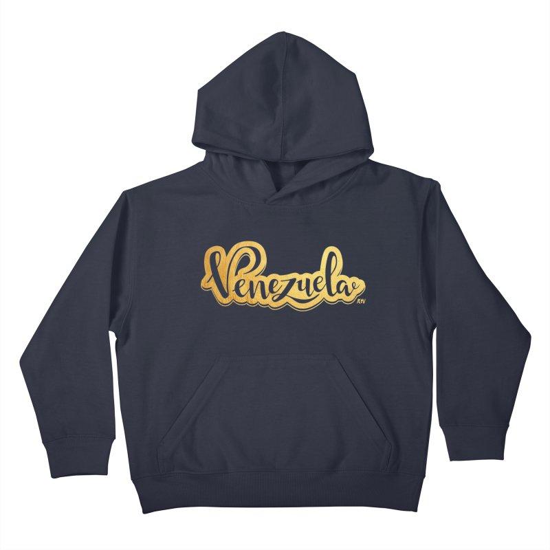 Typo Venezuela - ¡somos de oro! Kids Pullover Hoody by Andrea Garrido V - Shop