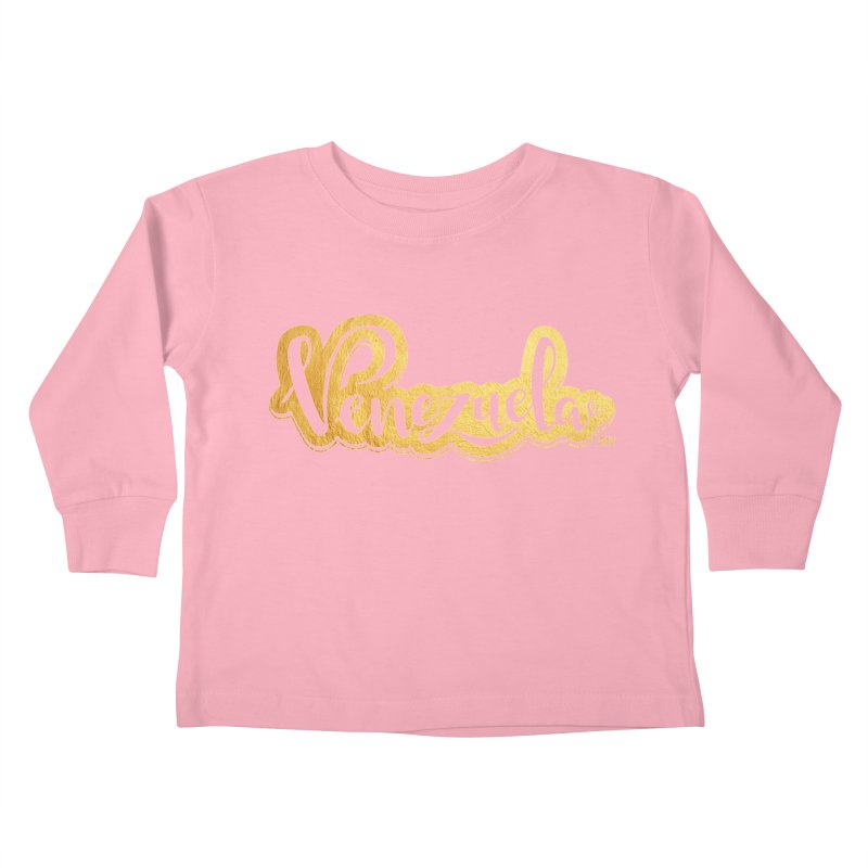 Typo Venezuela - ¡somos de oro! Kids Toddler Longsleeve T-Shirt by Andrea Garrido V - Shop