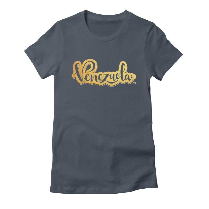 Typo Venezuela - ¡somos de oro! Women's T-Shirt by Andrea Garrido V - Shop