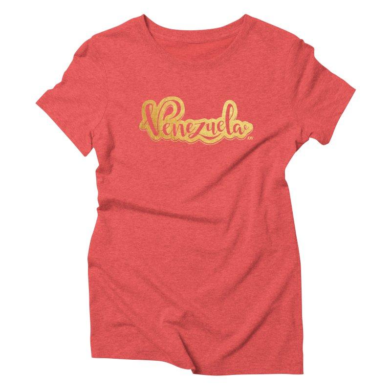 Typo Venezuela - ¡somos de oro! Women's Triblend T-Shirt by Andrea Garrido V - Shop