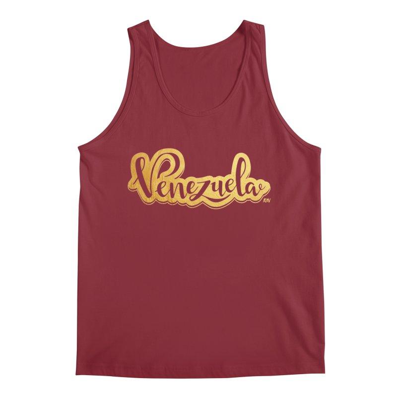 Typo Venezuela - ¡somos de oro! Men's Tank by Andrea Garrido V - Shop