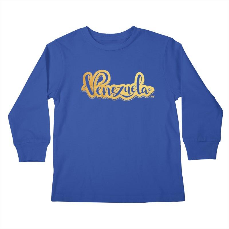 Typo Venezuela - ¡somos de oro! Kids Longsleeve T-Shirt by Andrea Garrido V - Shop