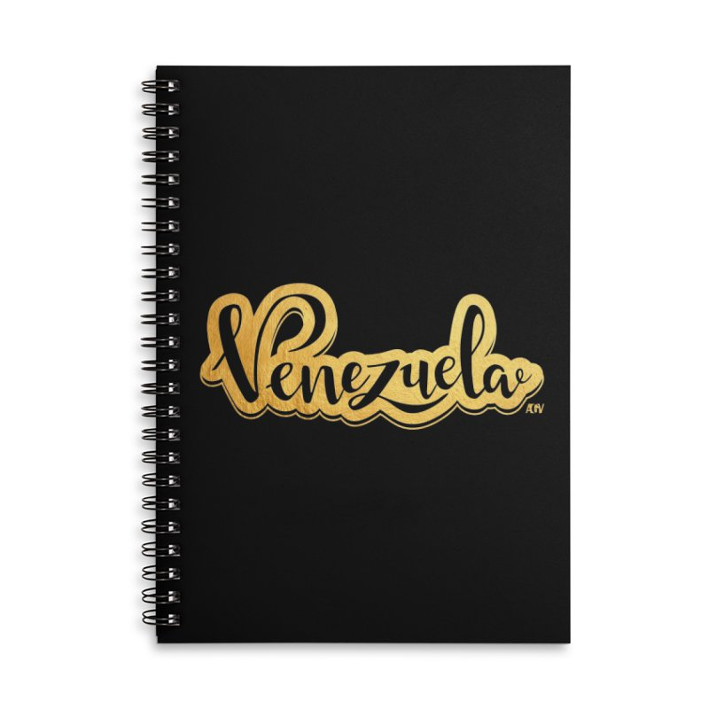 Typo Venezuela - ¡somos de oro! Accessories Lined Spiral Notebook by Andrea Garrido V - Shop