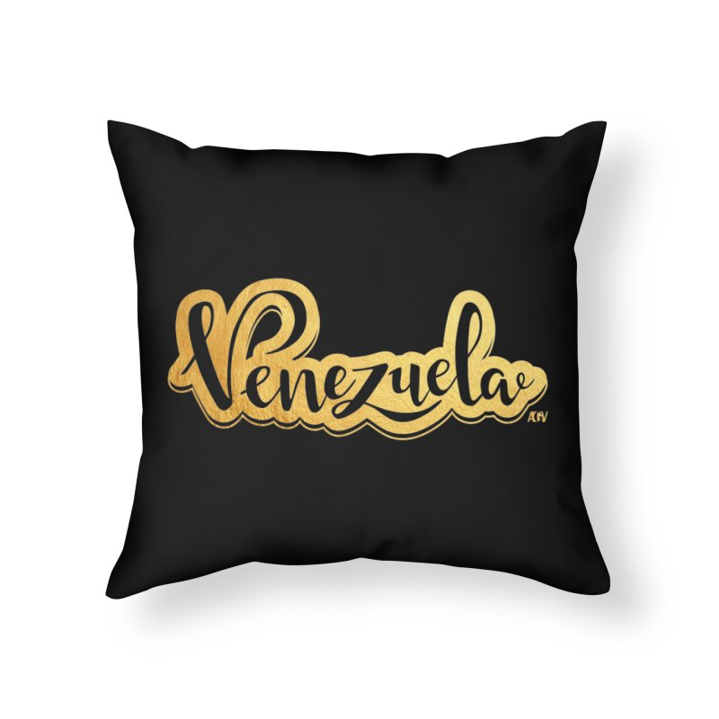 Typo Venezuela - ¡somos de oro! Home Throw Pillow by Andrea Garrido V - Shop