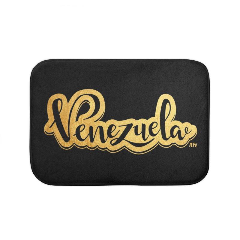 Typo Venezuela - ¡somos de oro! Home Bath Mat by Andrea Garrido V - Shop
