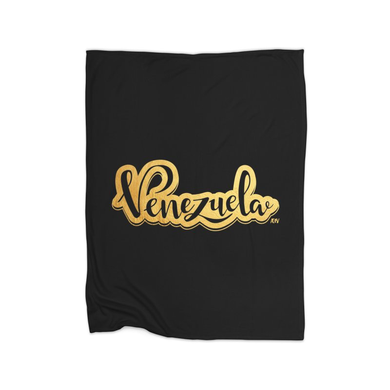 Typo Venezuela - ¡somos de oro! Home Blanket by Andrea Garrido V - Shop