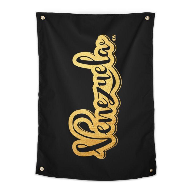 Typo Venezuela - ¡somos de oro! Home Tapestry by Andrea Garrido V - Shop