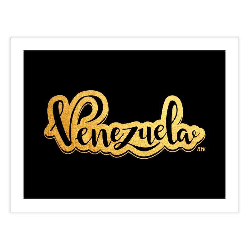 Typo Venezuela - ¡somos de oro! Home Fine Art Print by Andrea Garrido V - Shop
