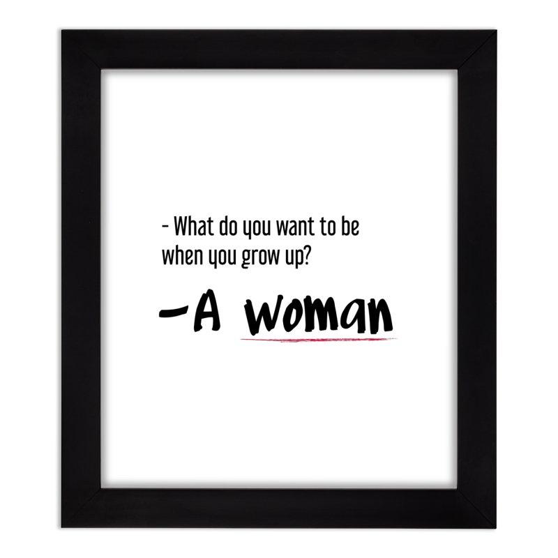 Best choice - Feminist Home Framed Fine Art Print by Andrea Garrido V - Shop