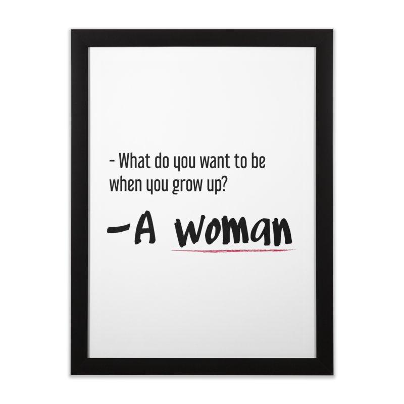 Best choice - Feminist Home Framed Fine Art Print by Andrea Garrido V - Shop