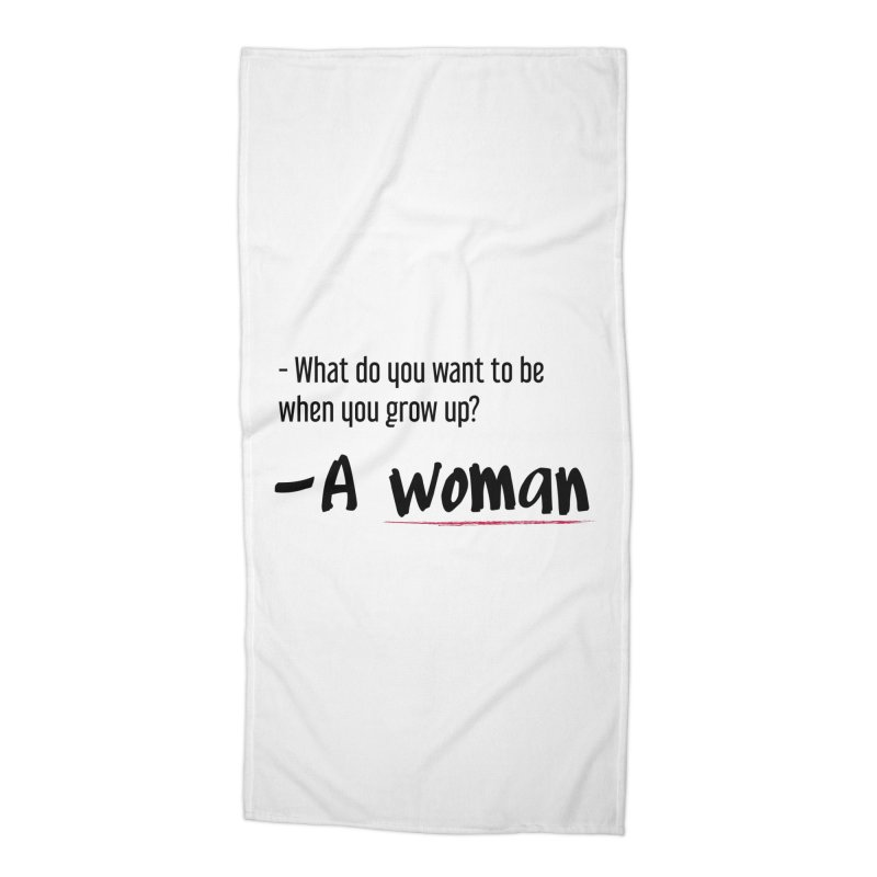 Best choice - Feminist Accessories Beach Towel by Andrea Garrido V - Shop