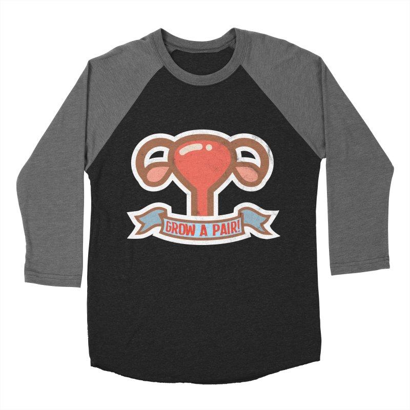 Grow a pair! Men's Baseball Triblend Longsleeve T-Shirt by Andrea Garrido V - Shop