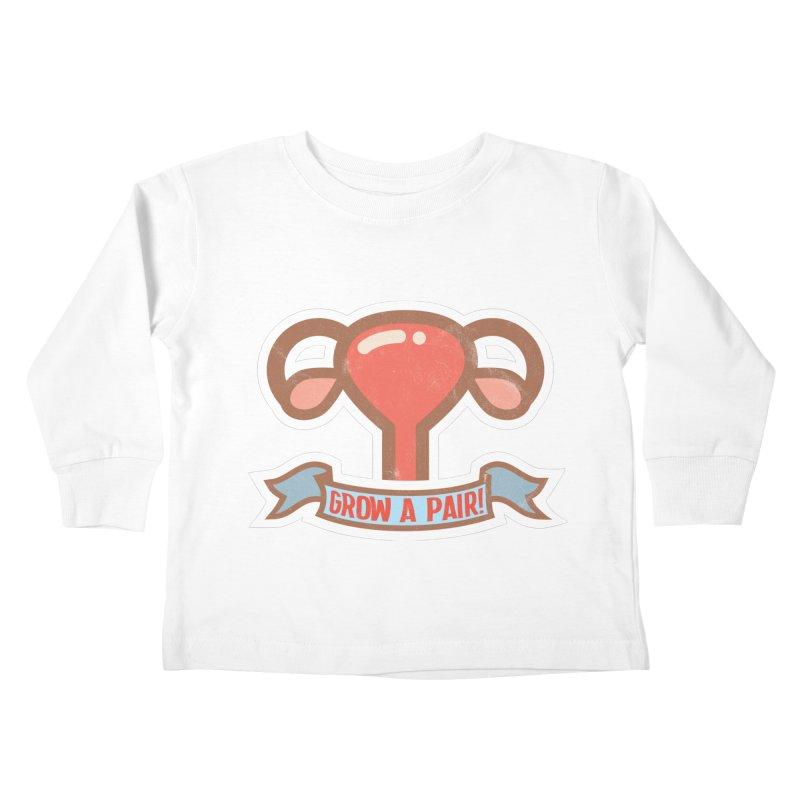 Grow a pair! Kids Toddler Longsleeve T-Shirt by Andrea Garrido V - Shop
