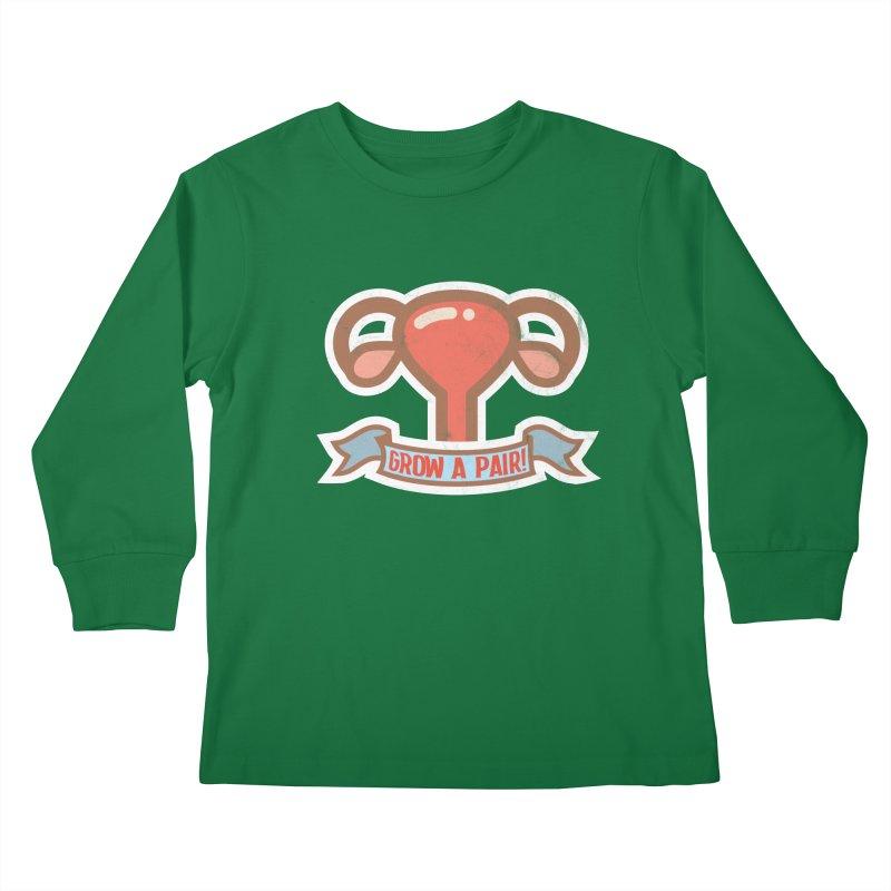 Grow a pair! Kids Longsleeve T-Shirt by Andrea Garrido V - Shop