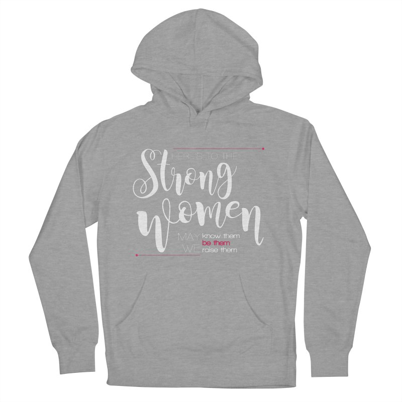 Strong Women Women's French Terry Pullover Hoody by Andrea Garrido V - Shop