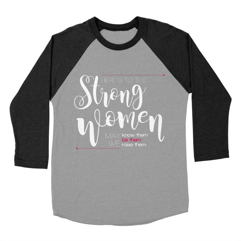 Strong Women Men's Baseball Triblend Longsleeve T-Shirt by Andrea Garrido V - Shop