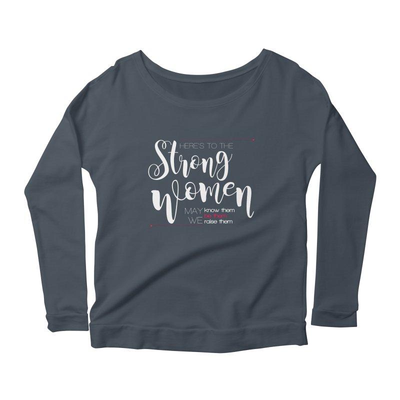 Strong Women Women's Scoop Neck Longsleeve T-Shirt by Andrea Garrido V - Shop