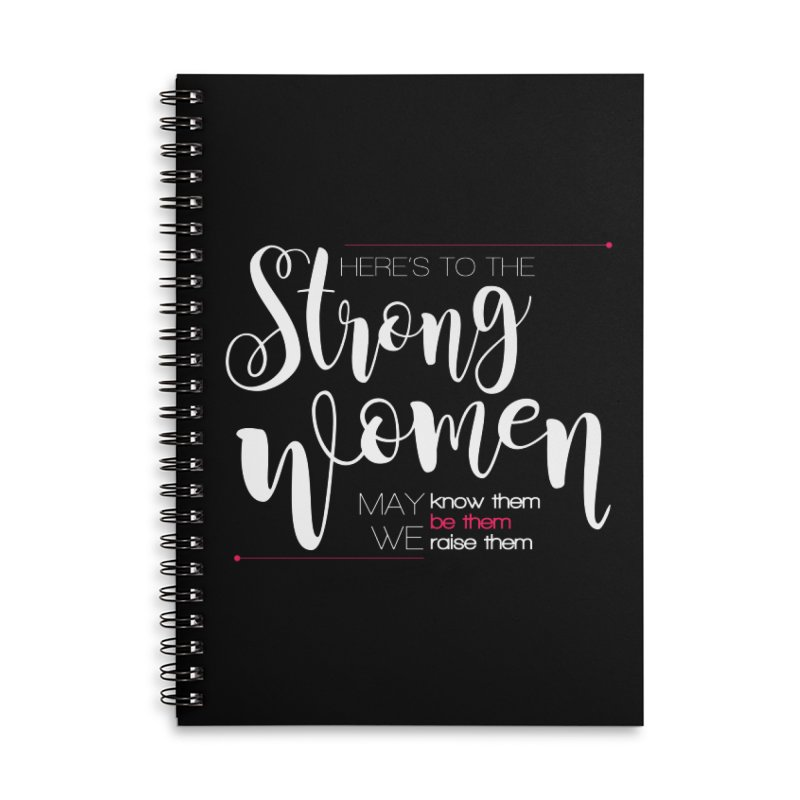 Strong Women Accessories Lined Spiral Notebook by Andrea Garrido V - Shop