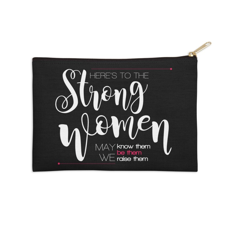 Strong Women Accessories Zip Pouch by Andrea Garrido V - Shop