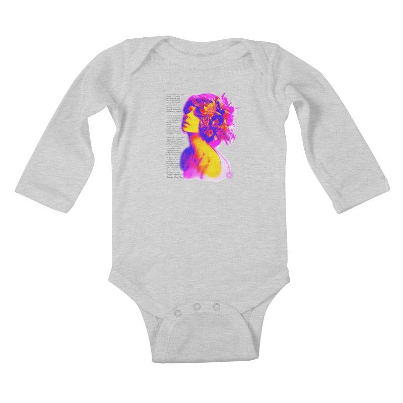 La Loca Luz Caraballo Kids Baby Longsleeve Bodysuit by Andrea Garrido V - Shop
