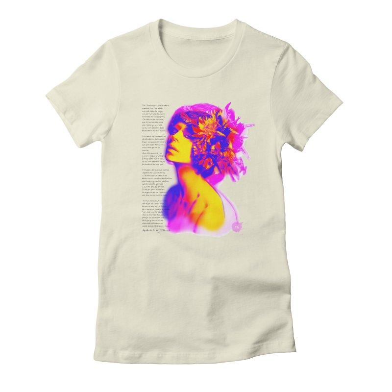 La Loca Luz Caraballo Women's Fitted T-Shirt by Andrea Garrido V - Shop