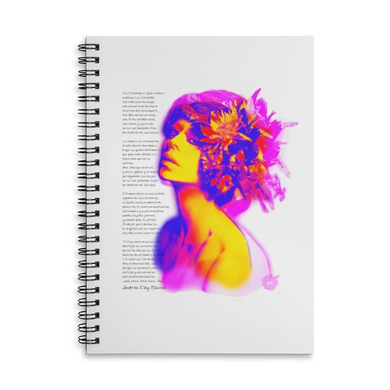 La Loca Luz Caraballo Accessories Lined Spiral Notebook by Andrea Garrido V - Shop
