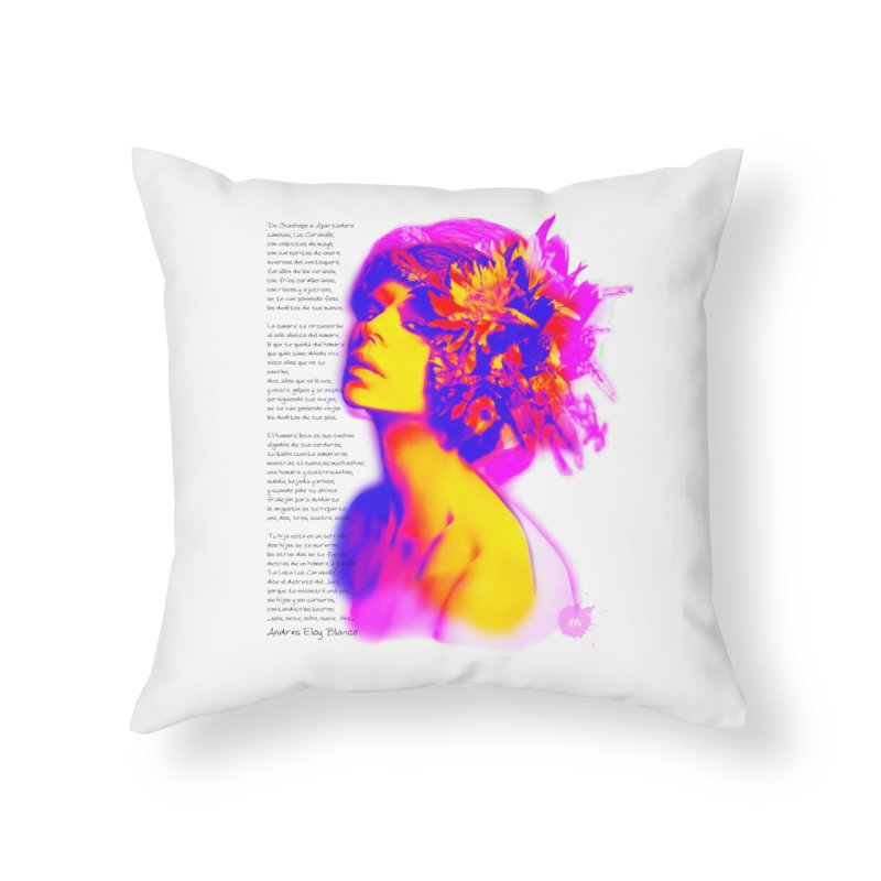 La Loca Luz Caraballo Home Throw Pillow by Andrea Garrido V - Shop