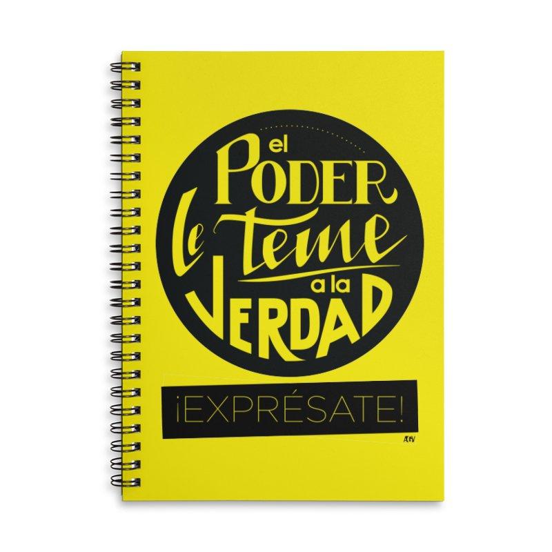 El poder le teme a la verdad Accessories Lined Spiral Notebook by Andrea Garrido V - Shop