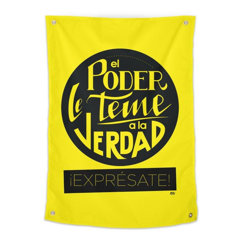 El poder le teme a la verdad Home Tapestry by Andrea Garrido V - Shop