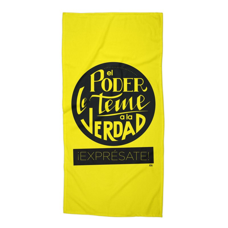 El poder le teme a la verdad Accessories Beach Towel by Andrea Garrido V - Shop