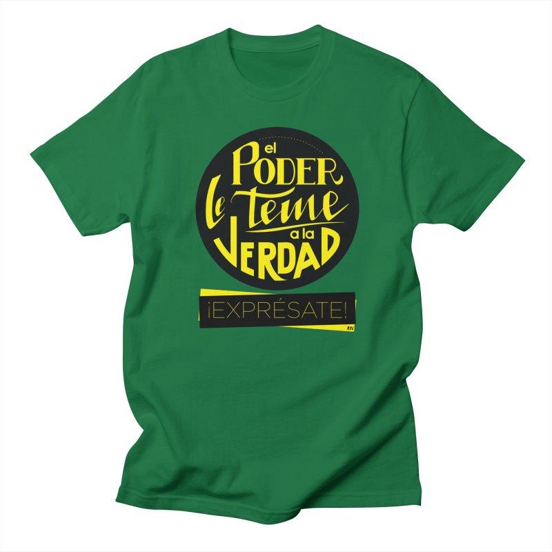 El poder le teme a la verdad Men's T-Shirt by Andrea Garrido V - Shop
