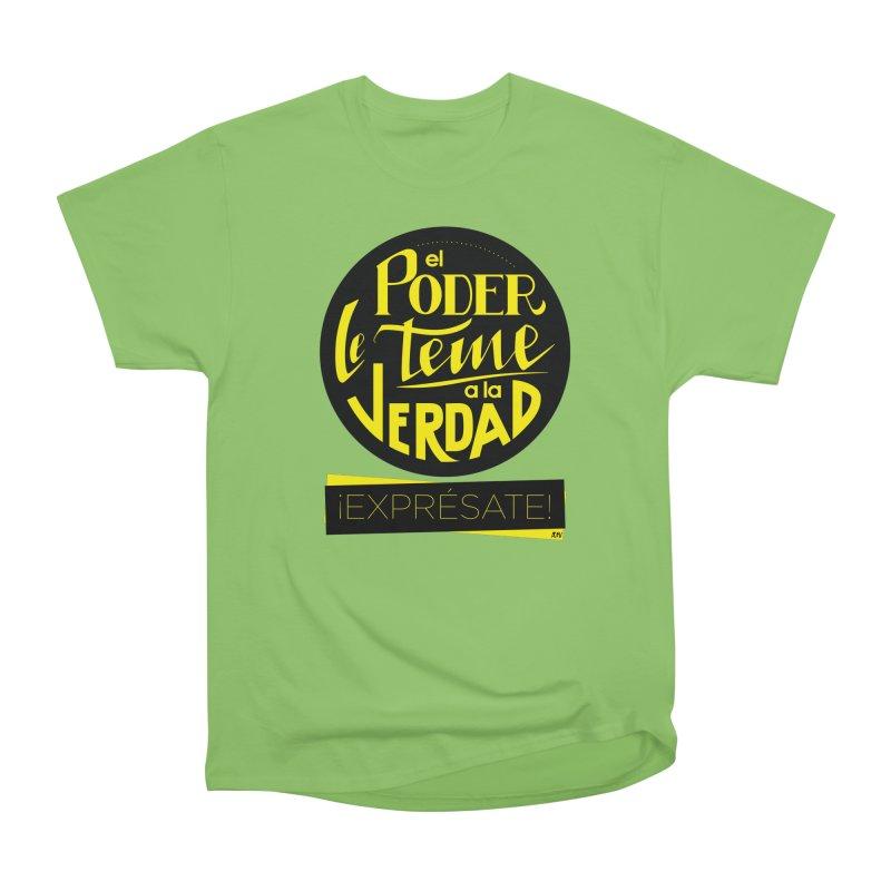 El poder le teme a la verdad Men's Heavyweight T-Shirt by Andrea Garrido V - Shop